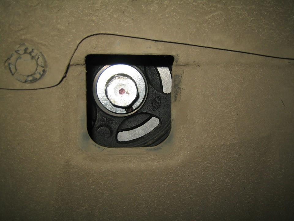 Установленный пыльник силового агрегата