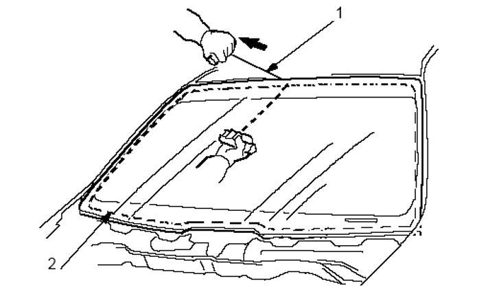 Процесс установки лобового стекла