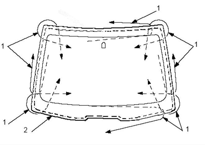 Точки удаления клея из под стекла