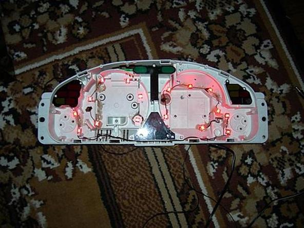 Контроль работы смонтированных светодиодов
