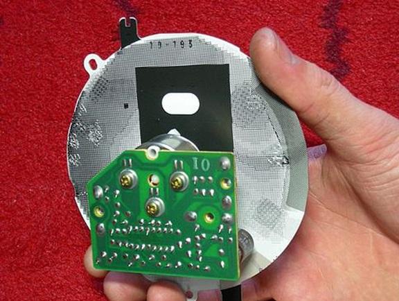 Процесс снятия светофильтра