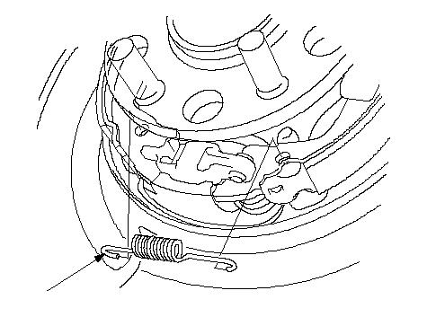 Место крепления пружинки