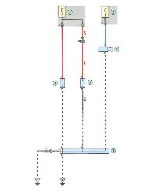 Электросхема подключения прикуривателя и розеток