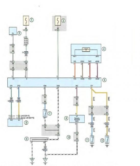 Схема подключения иммобилайзера