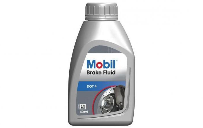Тормозная жидкость Mobil DOT 4