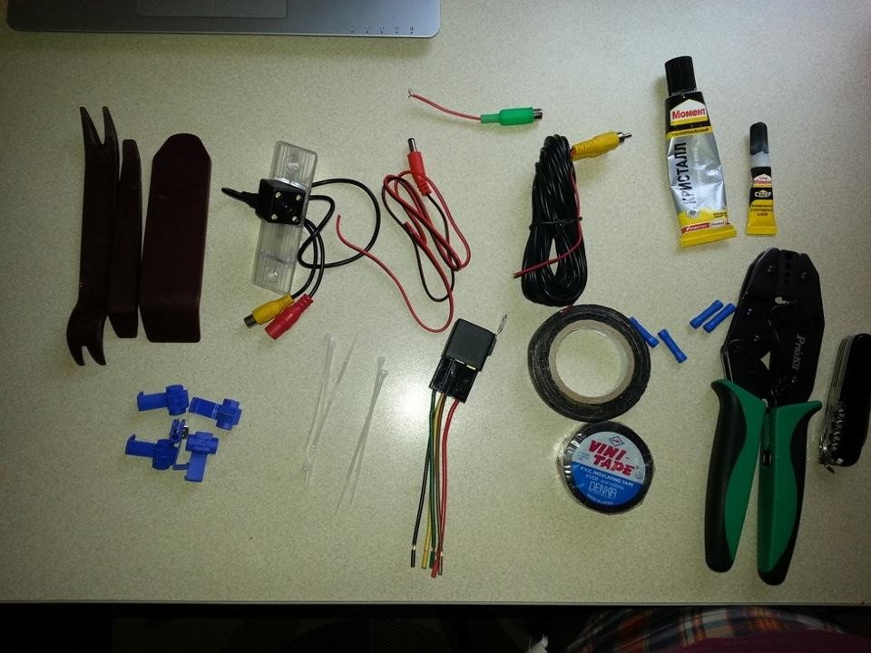 Инструменты необходимые для монтажа камеры