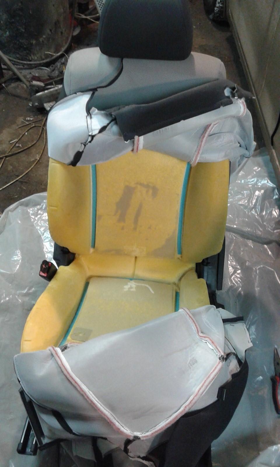 Демонтаж чехла подушки