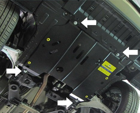 Снятие защита двигателя