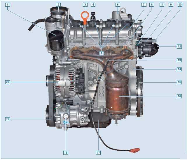 Внешний вид двигателя с фронтальной стороны