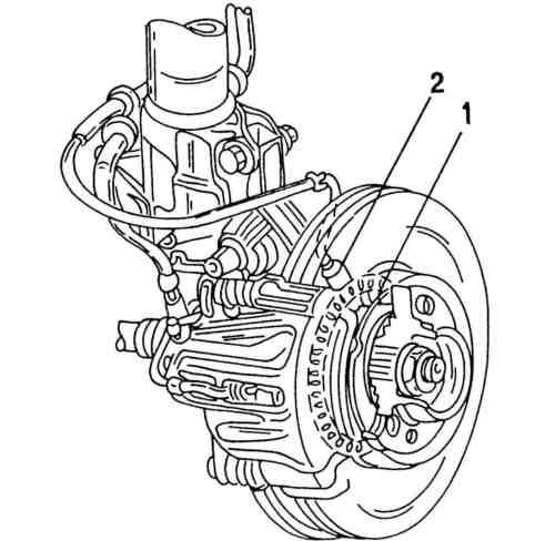 Датчик частоты вращения колеса