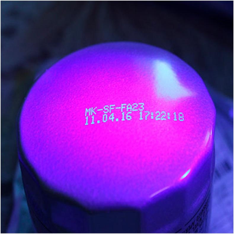 Появление надписи под воздействием ультрафиолета