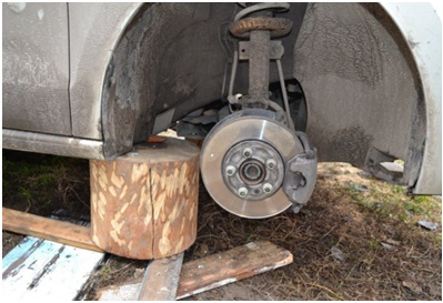 Откручивание колес