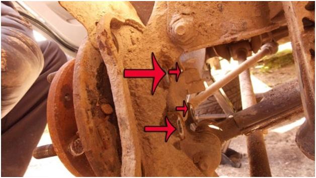 Расположение креплений ступицы