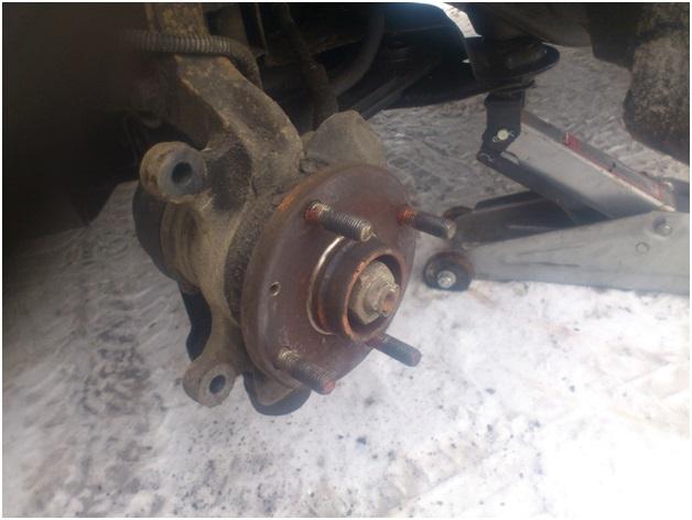 Вид после снятия старого тормозного диска