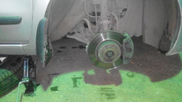 Вид после снятия колеса