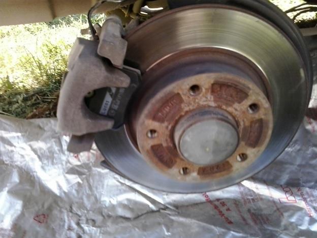 Вид со снятым колесом