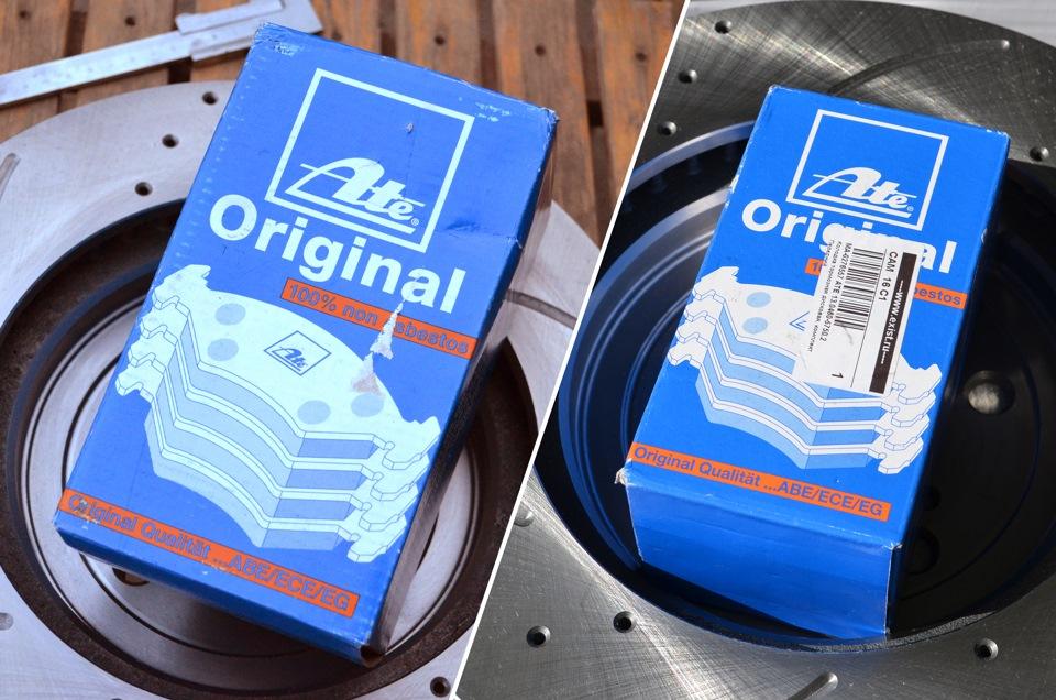 Поддельная упаковка (слева) и фирменное изделие