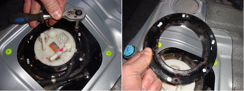 Откручивание креплений и демонтаж кольца