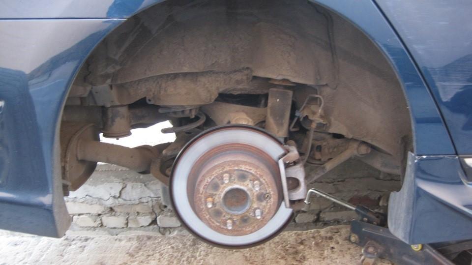 Вид после снятия заднего колеса