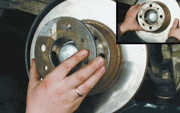 Демонтаж дистанционного кольца