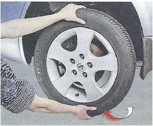 Проверка люфта колеса