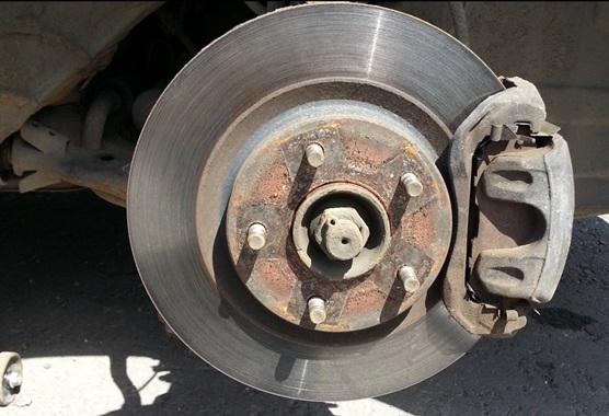 После снятия колеса