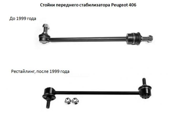 Стойки стабилизатора на Peugeot 406