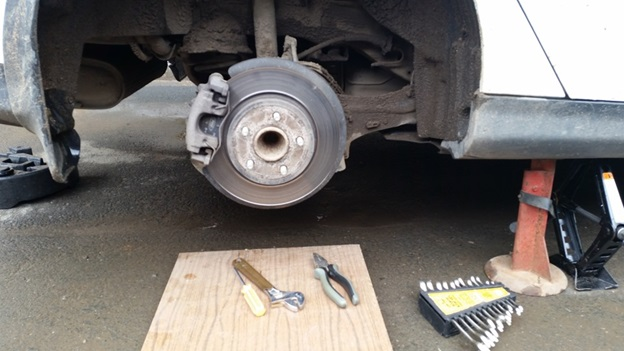 Вид после демонтажа колеса