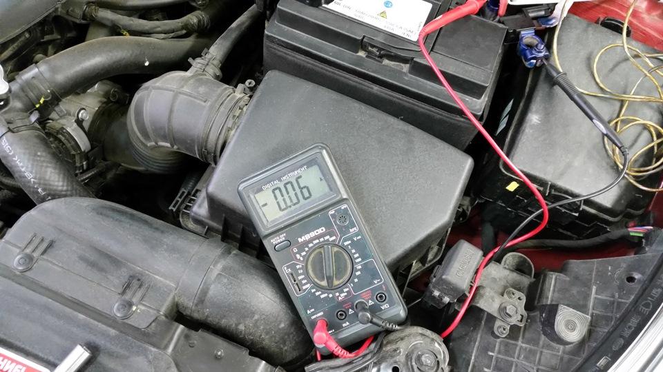 Проверка потребляемого тока