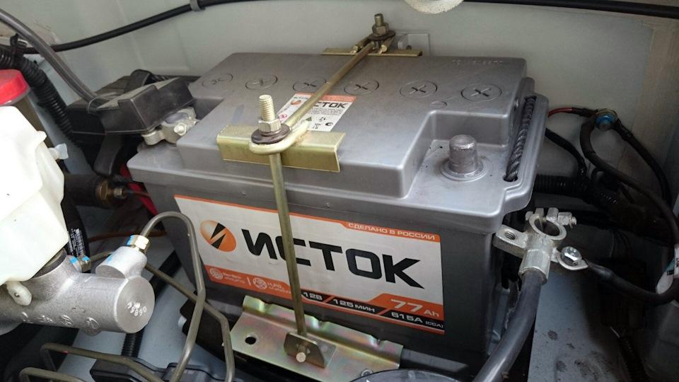 "Батарея компании ""Исток"", установленная на УАЗ Патриот с завода"