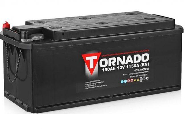 АКБ Tornado для грузового транспорта и автобусов