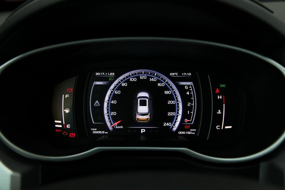 Панель приборов транспортного средства в комплектации Luxury
