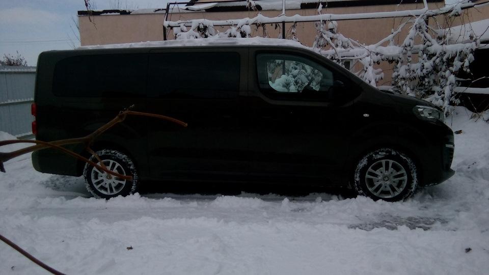 Вид сбоку на Peugeot Traveller