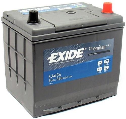 Аккумуляторная батарея фирмы Exide, предназначенная для установки на Тойота Рав 4