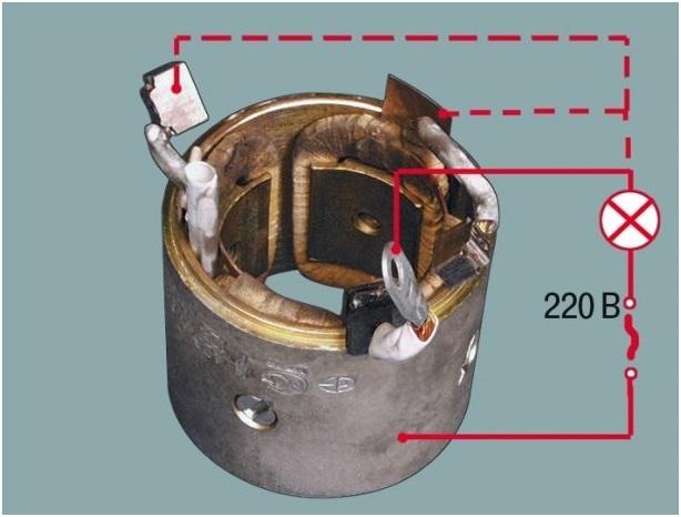 Схемы проверки статора