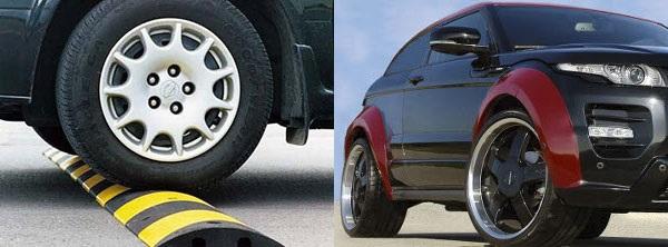 Фото колес с шинами, обладающими различной высотой профиля