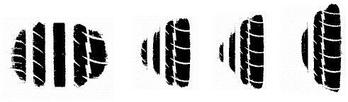 Пята контакта шин с различными высотами профилей