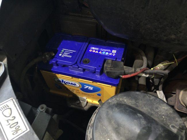 Расположение аккумуляторной батареи на Газель Некст