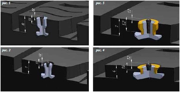 Принцип действия ремонтных шипов