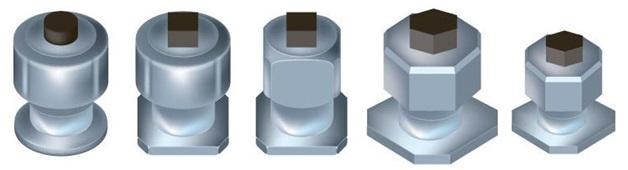 Разнообразие рабочих поверхностей шипов