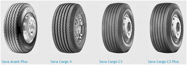 Модельный ряд шин sava