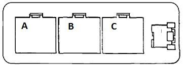 Схема расположения реле в блоке выглядит так