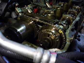 Замена цепи на двигателе ниссан примера, ниссан примера