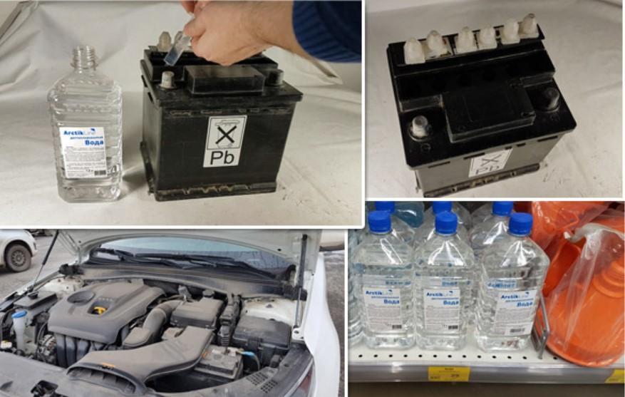 В свинцовый аккумулятор необходимо доливать только дистиллированную воду