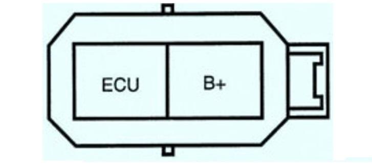 ECU и В+ на разъёме