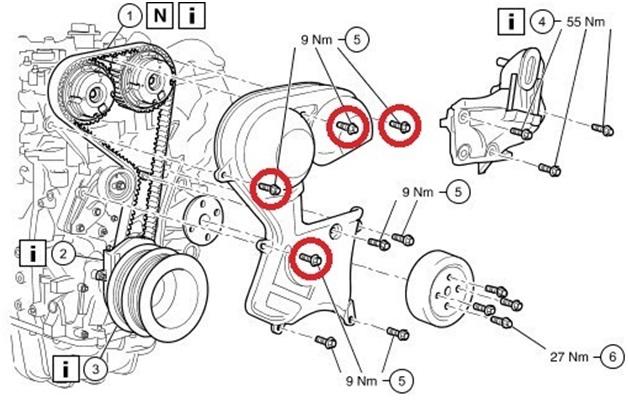 Структурная схема привода ГРМ Форд Фокус 2