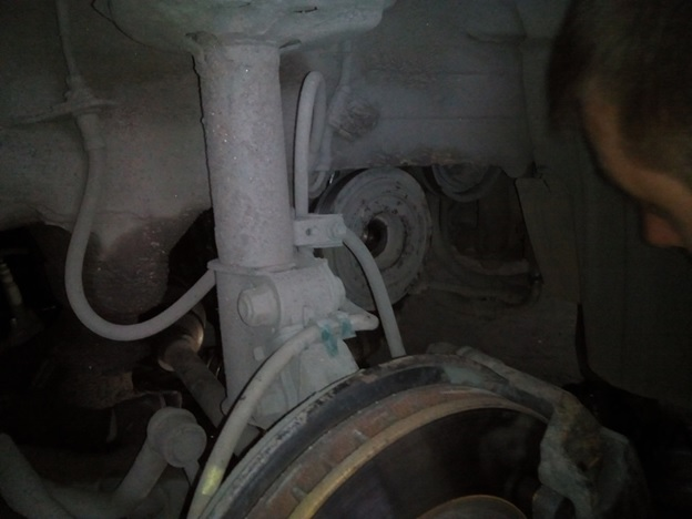 Вид на шкив коленчатого вала