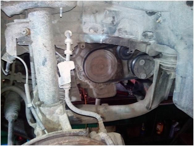 Вид после снятия колеса и локера
