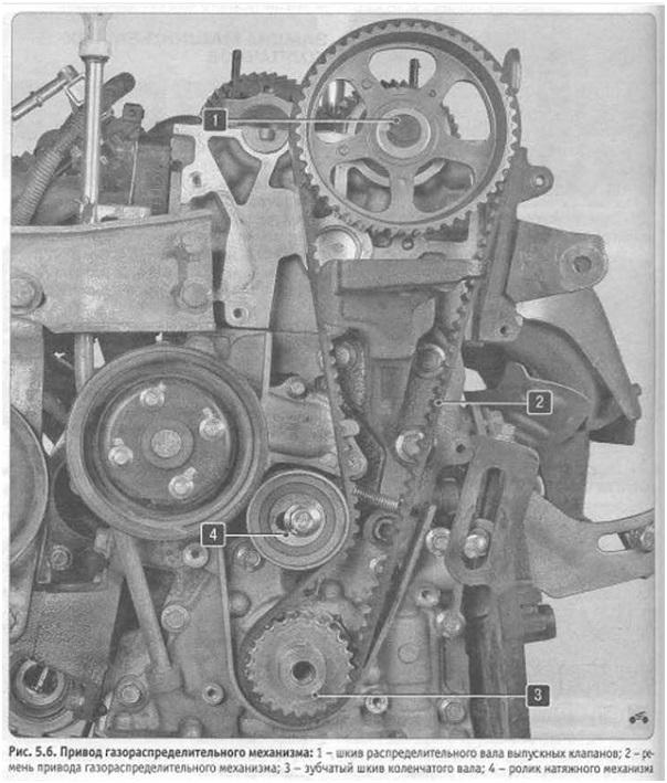 Схема привода газораспределительного механизма автомобиля Лифан Солано