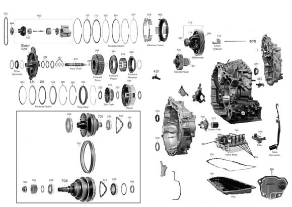 Конструкция вариатора Mitsubishi Outlander